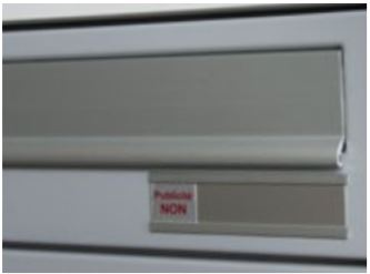 portanome in alluminio